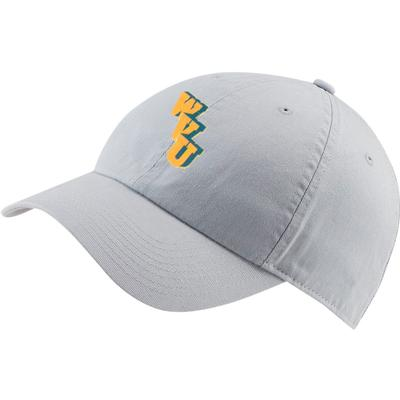 West Virginia Nike Golf Vault WVU H86 Washed Adj Hat WOLF_GREY
