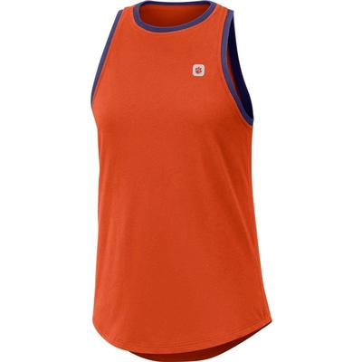 Clemson Nike Women's Dri-FIT High Neck Tank Top