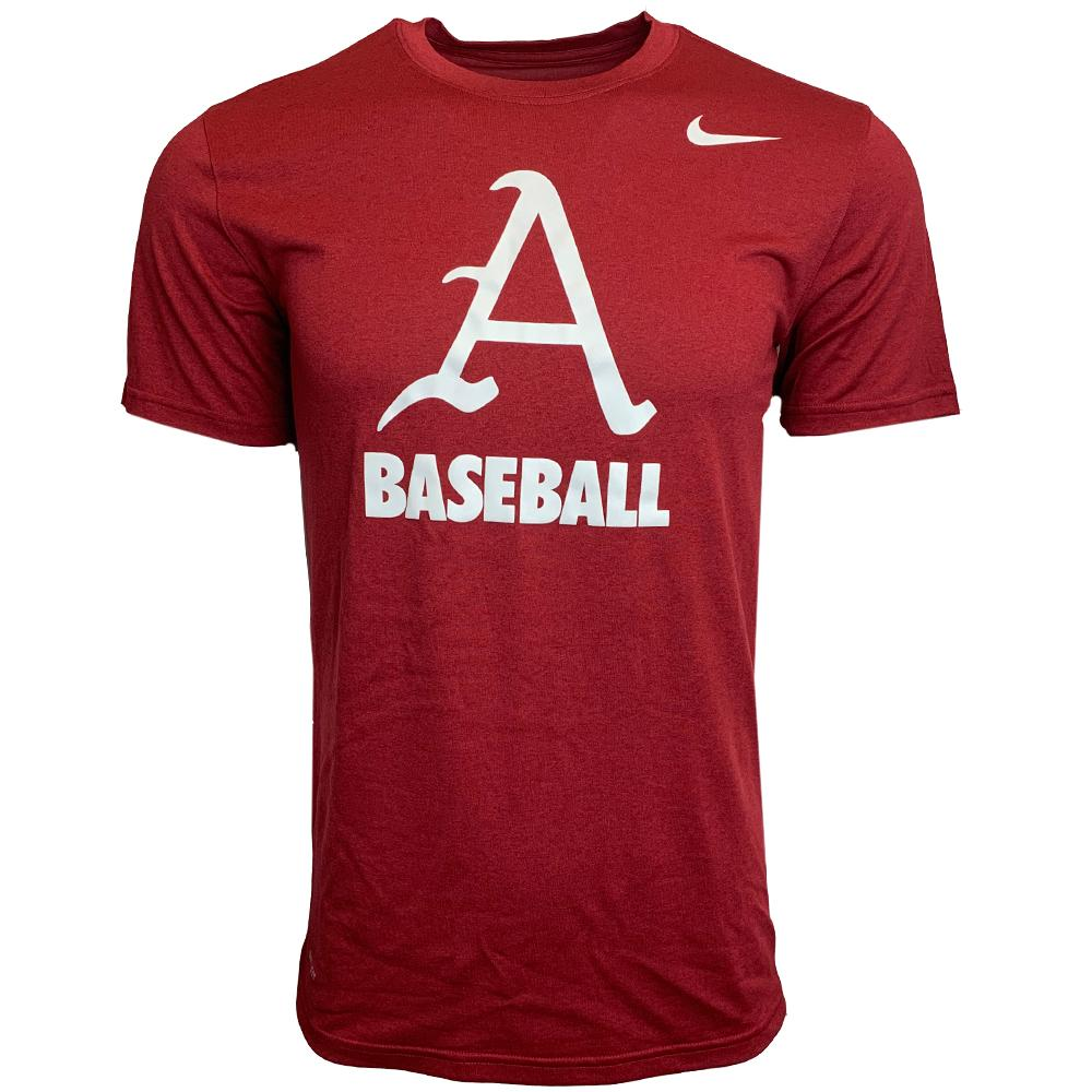 Arkansas Nike Dri- Fit Legend Baseball T Shirt