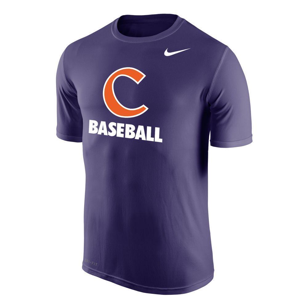 Clemson Nike Dri- Fit Legend Baseball T Shirt