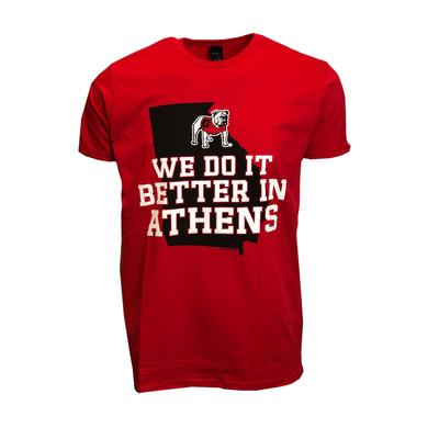 Georgia We Do It Better T-Shirt RED