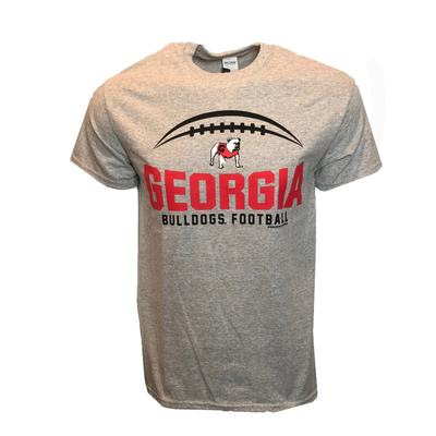 Georgia Football Laces T-Shirt SPORT_GREY