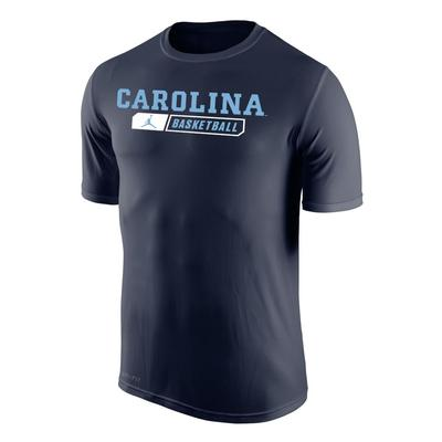 North Carolina Nike Dri-FIT Straight Basketball T Shirt
