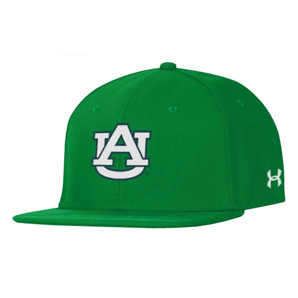 Auburn Under Armour Green Logo Fitted Baseball Cap