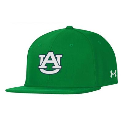 Auburn Under Armour Green Logo Fitted Baseball Cap