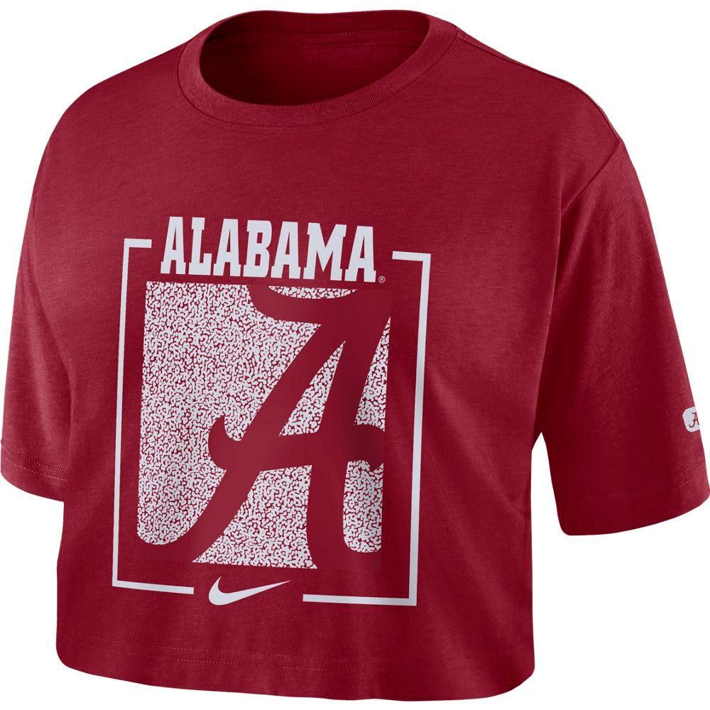 Alabama Nike Women's Dri- Fit Cotton Crop Top