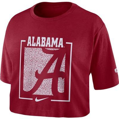 Alabama Nike Women's Dri-FIT Cotton Crop Top TEAM_CRIMSON