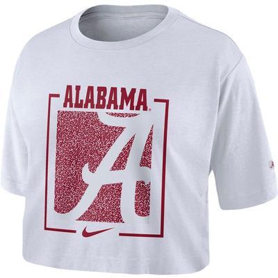 Alabama Nike Women's Dri-FIT Cotton Crop Top WHITE