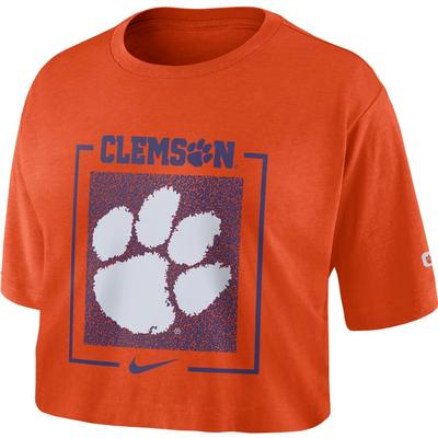 Clemson Nike Women's Dri-FIT Cotton Crop Top