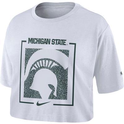 Michigan State Nike Women's Dri-FIT Cotton Crop Top
