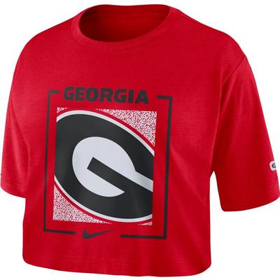 Georgia Nike Women's Dri-FIT Cotton Crop Top