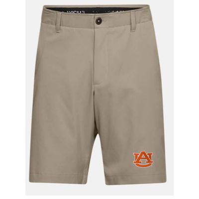 Auburn Under Armour Logo Show Down Golf Short KHAKI