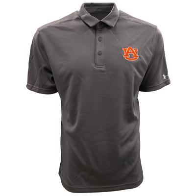 Auburn Under Armour Logo Tech Polo GRAPHITE