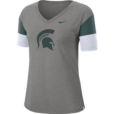 Michigan State Nike Women's Dri-FIT Breathe V-Neck Top