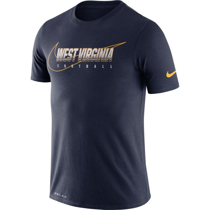 West Virginia Nike Dri- Fit Cotton Facility Tee