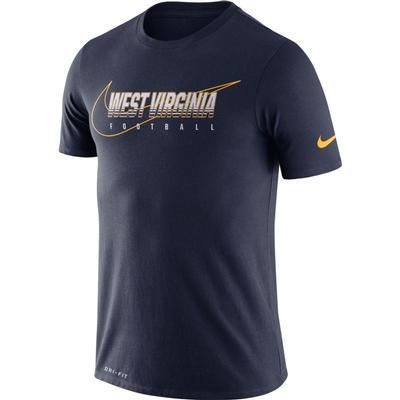 West Virginia Nike Dri-FIT Cotton Facility Tee