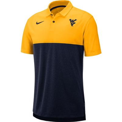 West Virginia Nike Breathe Color Block Polo
