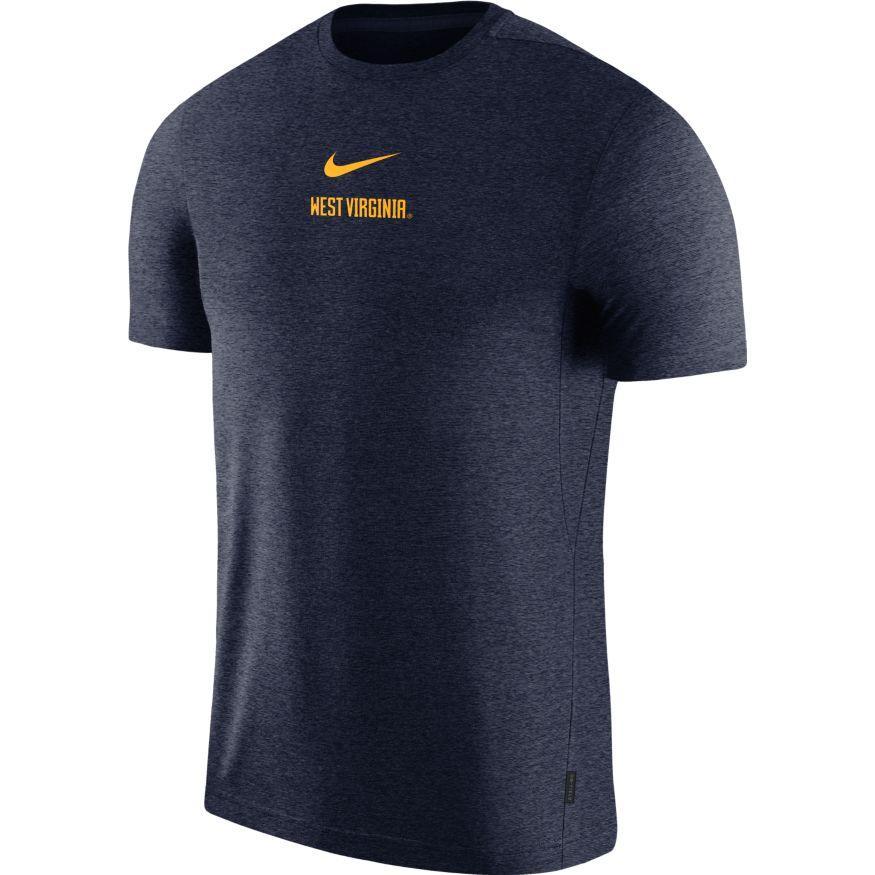 West Virginia Nike Dry Short Sleeve Coaches Tee