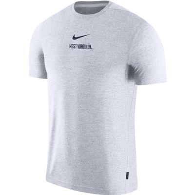 West Virginia Nike Dry Short Sleeve Coaches Tee WHITE