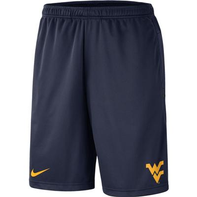 West Virginia Nike Knit Dri-FIT Coaches Shorts