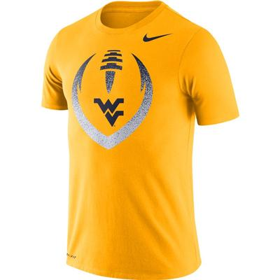 West Virginia Nike Dri-FIT Cotton Short Sleeve Icon Tee