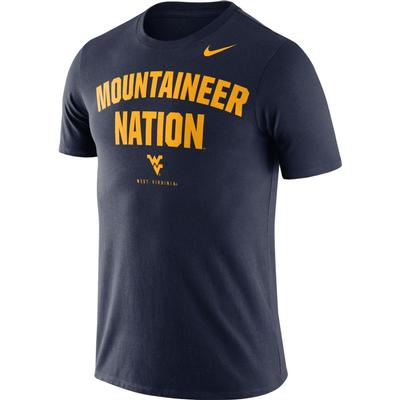 West Virginia Nike Dri-FIT Cotton Short Sleeve Local Tee