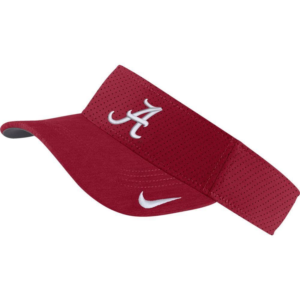 Alabama Nike Aerobill Sideline Visor