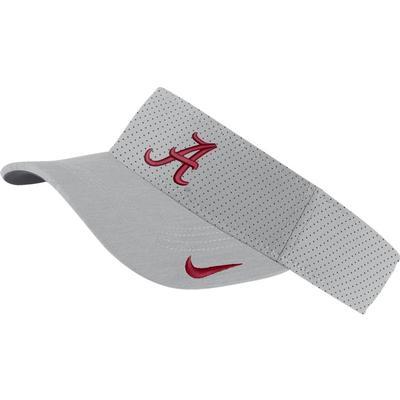 Alabama Nike Aerobill Sideline Visor SILVER
