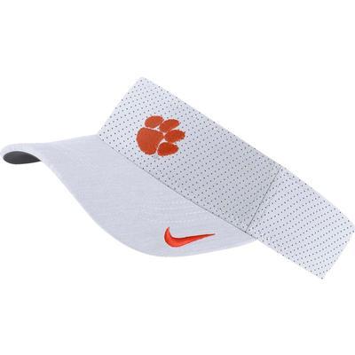 Clemson Nike Aerobill Sideline Visor WHITE