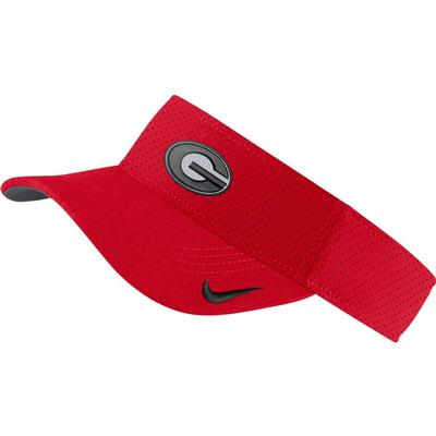 Georgia Nike Aerobill Sideline Visor RED