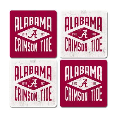 Alabama Legacy Diamond Coaster Set - 4 Pack