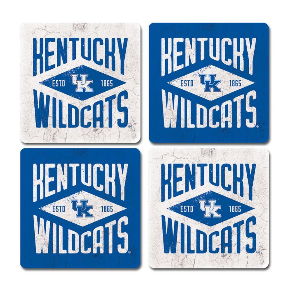 Kentucky Legacy Diamond Coaster Set - 4 Pack