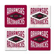 Arkansas Legacy Diamond Coaster Set - 4 Pack