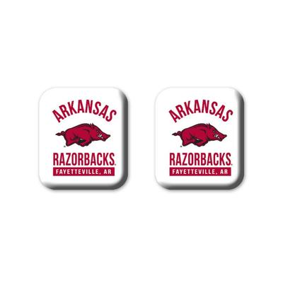 Arkansas Legacy Square Fridge Magnets 2 Pack