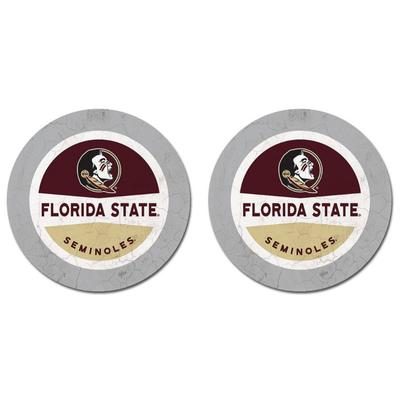 Florida State Thirsty Car Coaster 2 Pack