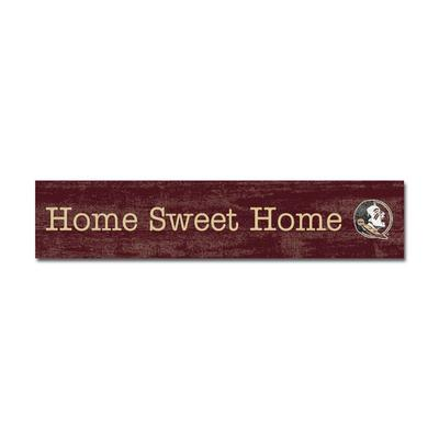 Florida State Legacy Home Sweet Home Door Plank - 2.5 X 12