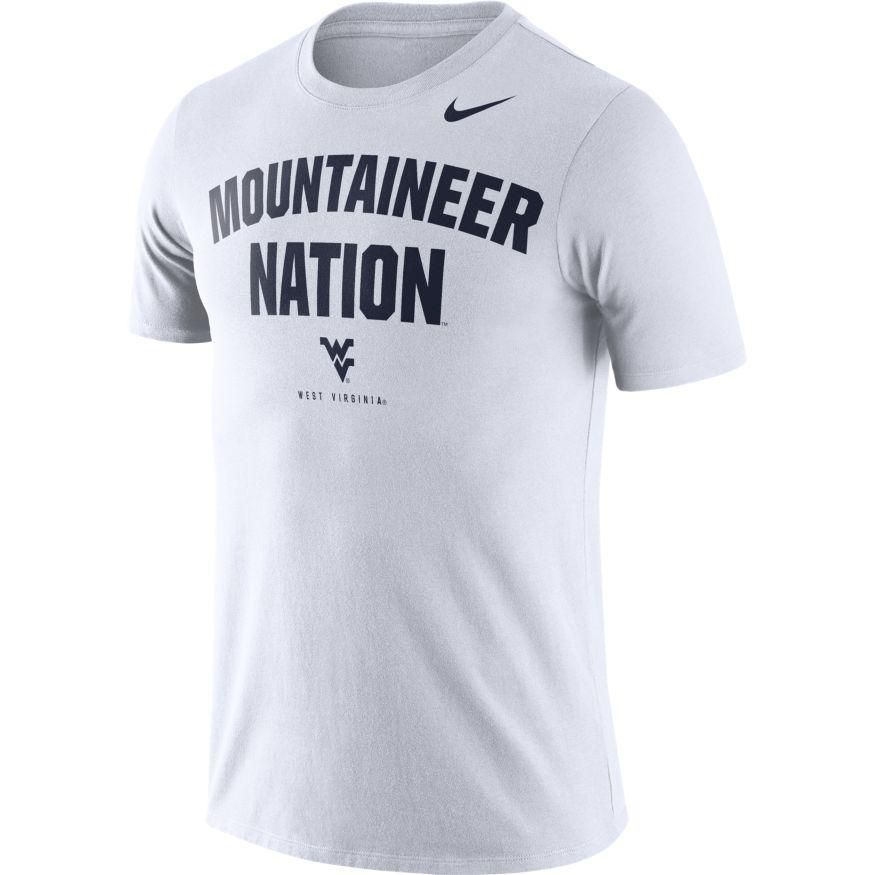 West Virginia Nike Dri- Fit Cotton Short Sleeve Local Tee