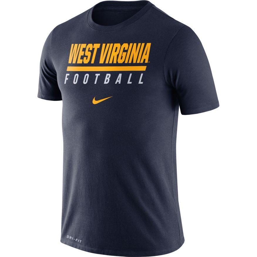 West Virginia Nike Dri- Fit Cotton Icon Football Tee