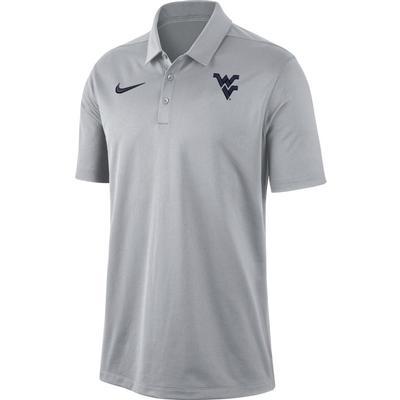 West Virginia Nike Dry Franchise Polo WOLF_GREY
