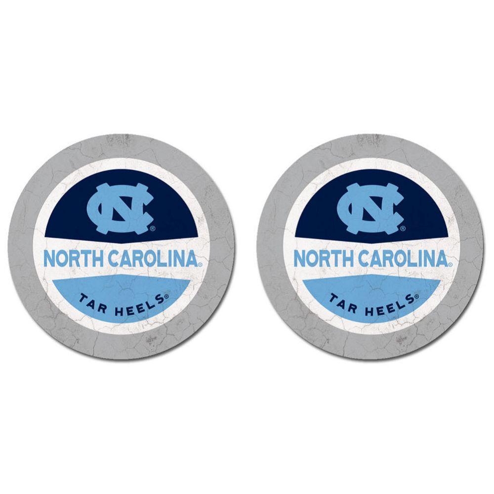 North Carolina Thirsty Car Coaster 2 Pack