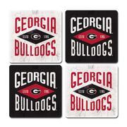 Georgia Legacy Diamond Coaster Set - 4 Pack