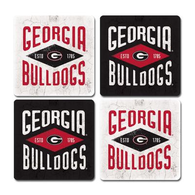 Georgia Legacy Diamond Coaster Set - 4 Pack