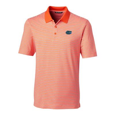 Florida Cutter and Buck Tonal Stripe Forge Polo ORANGE