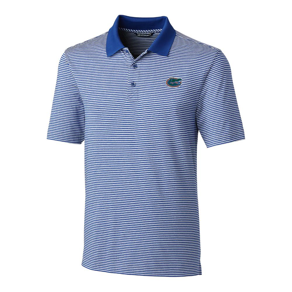 Florida Cutter And Buck Tonal Stripe Forge Polo