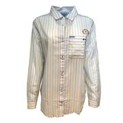 West Virginia Columbia Women's Sun Drifter Iii L/S Shirt
