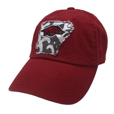 Arkansas Women's State Outline Adjustable Cap