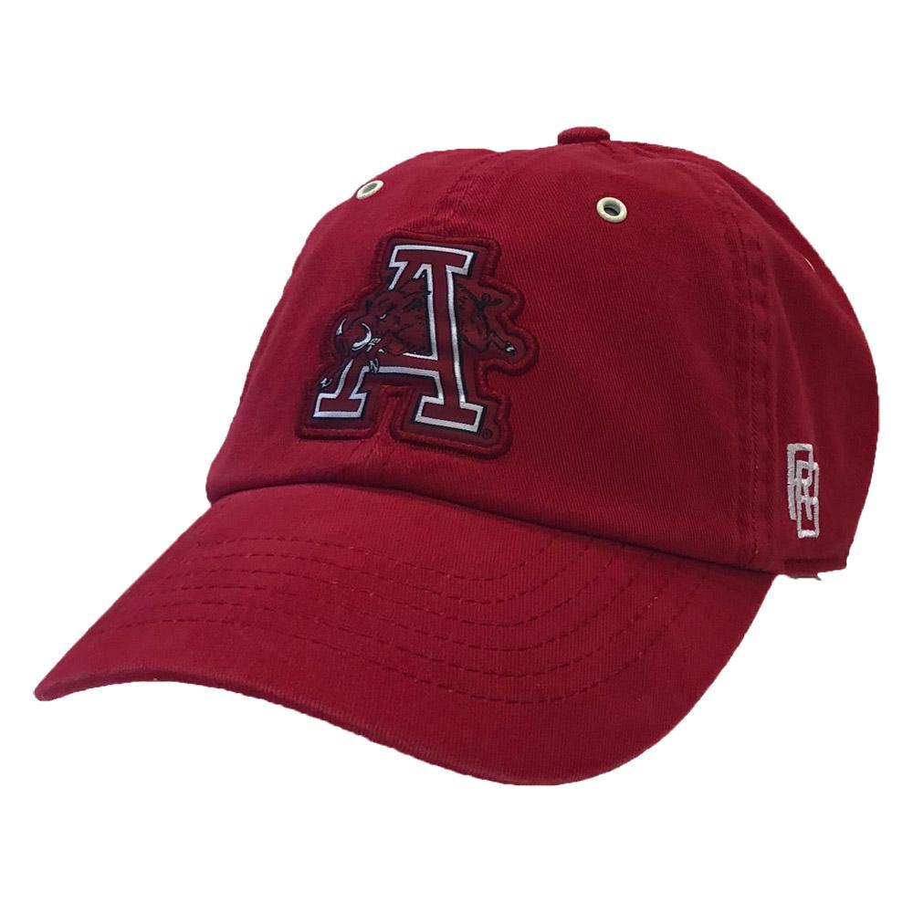 Arkansas Retro Brand Jumping Hog Vault Logo Hat