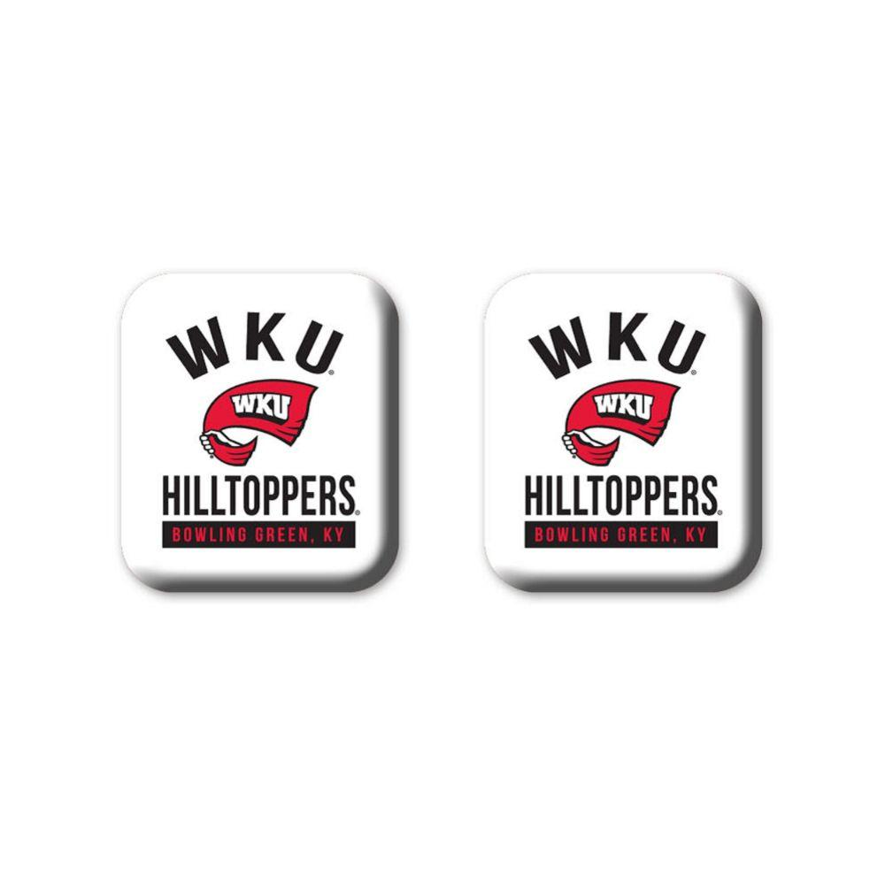 Western Kentucky Legacy Square Fridge Magnets 2 Pack