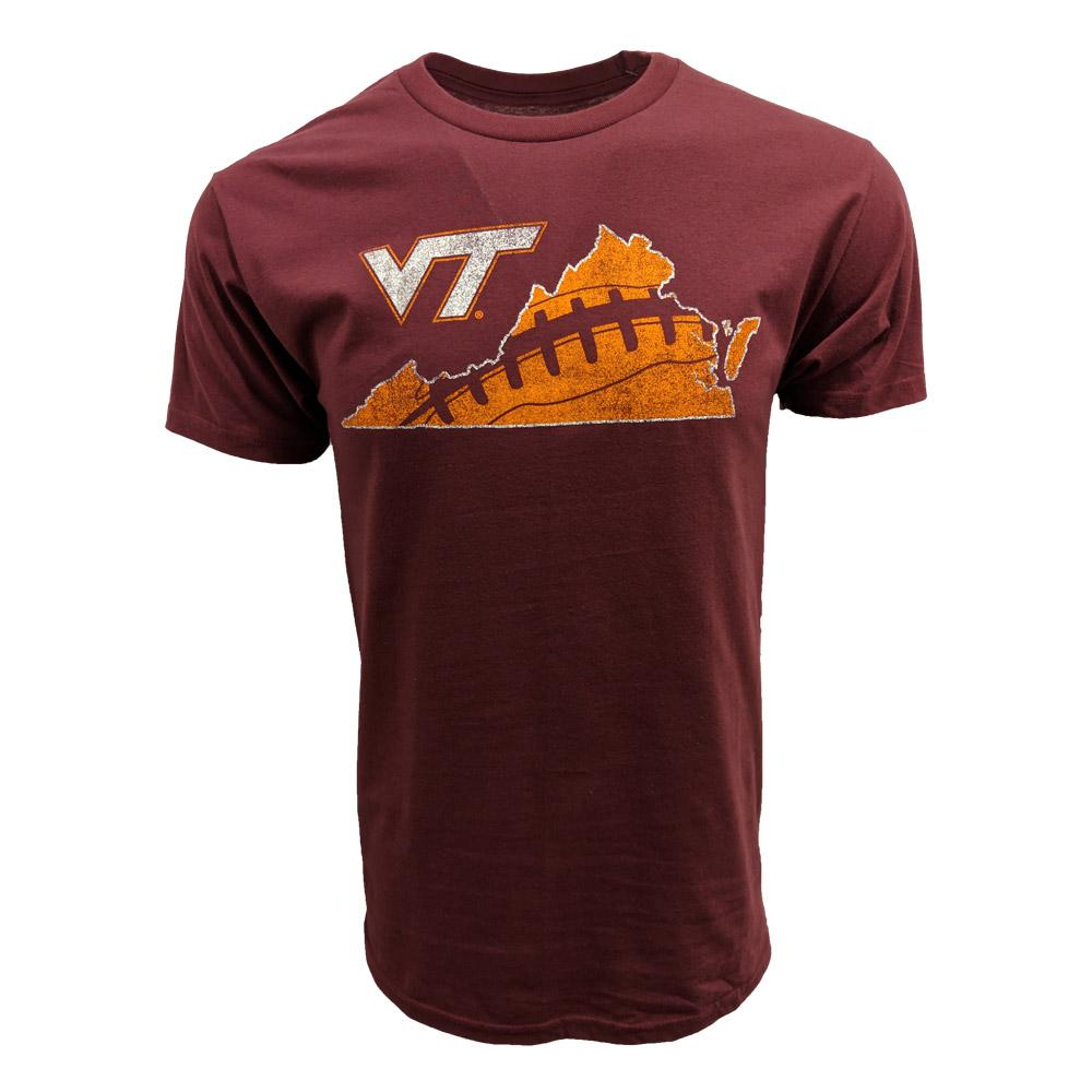 Virginia Tech Laces In State Football T- Shirt