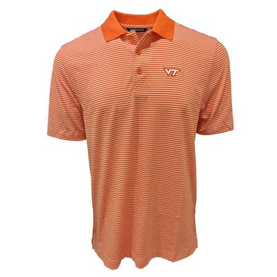 Virginia Tech Cutter & Buck Forge Tonal Stripe Polo